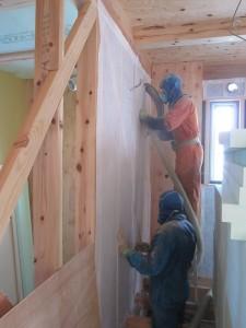 壁断熱工事2